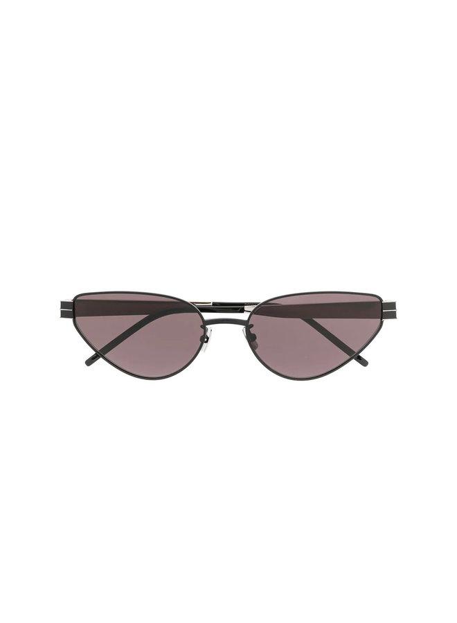 Cat Eye Sunglasses, SI M51, Metal, Black
