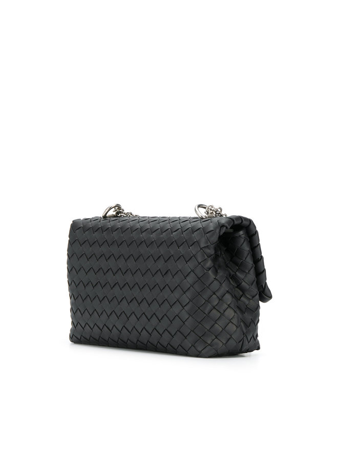 Bottega Veneta Small Olimpia Shoulder Bag In Black