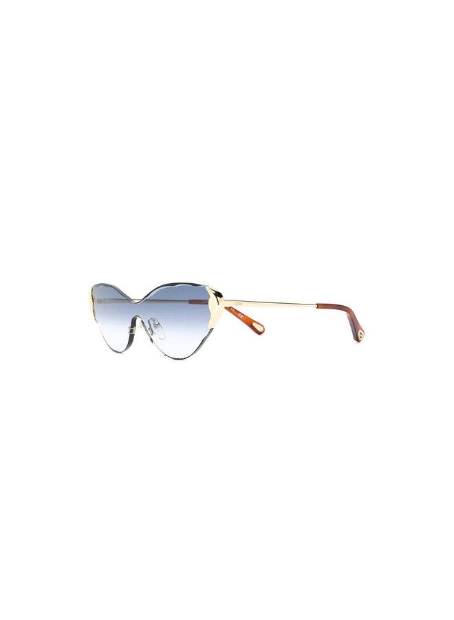 Chloe Cat Eye Frame Sunglasses Gold Hardware Details