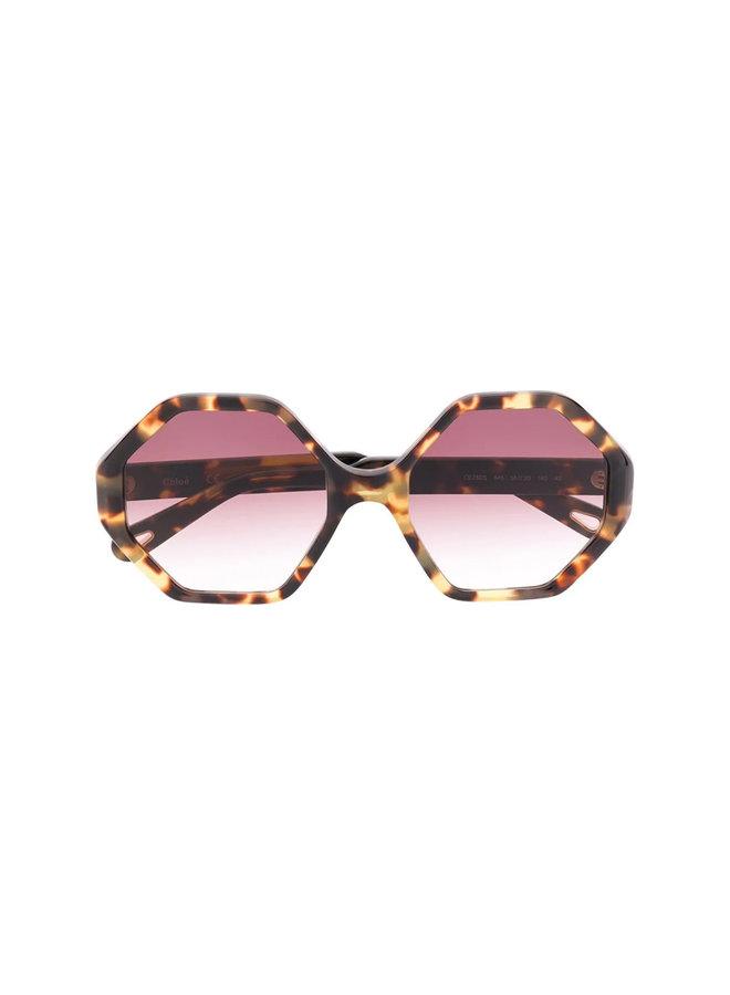 Large Octagonal Frame Sunglasses