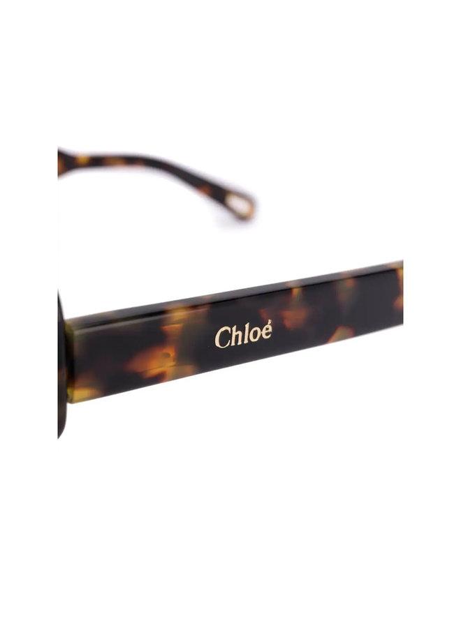 Chloe Large Octagonal Frame Sunglasses In Havana