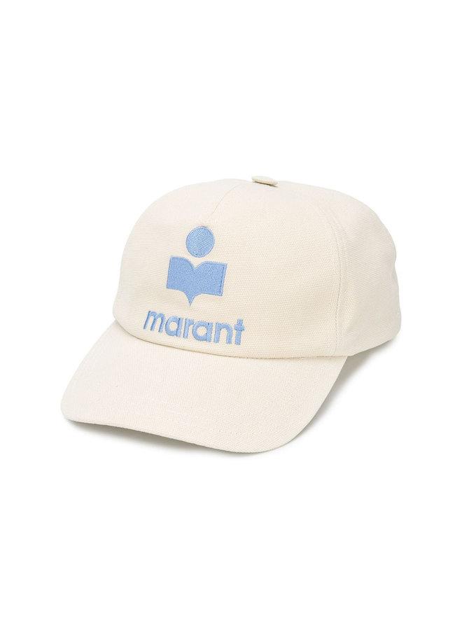 'Marant' Logo Cap in Cotton in Ecru