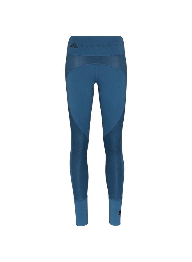 High Waist Leggings with Logo in Blue