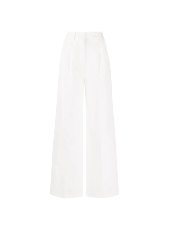 High Waisted Wide Leg Pants in White