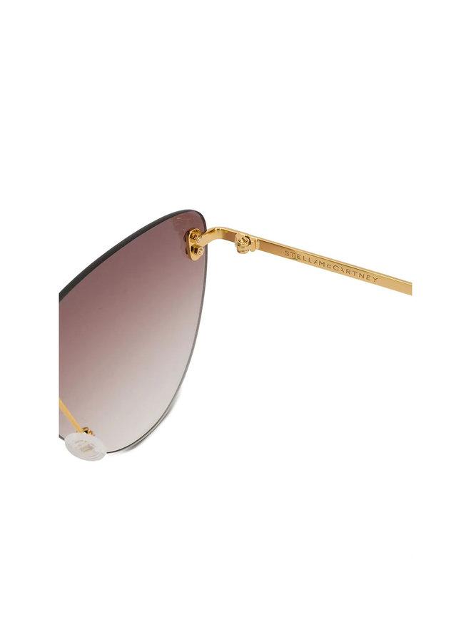 Cat Eye Eyewear in Acetate in Gold