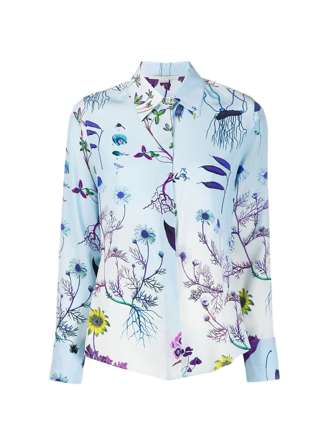Long Sleeve Printed Shirt in Silk
