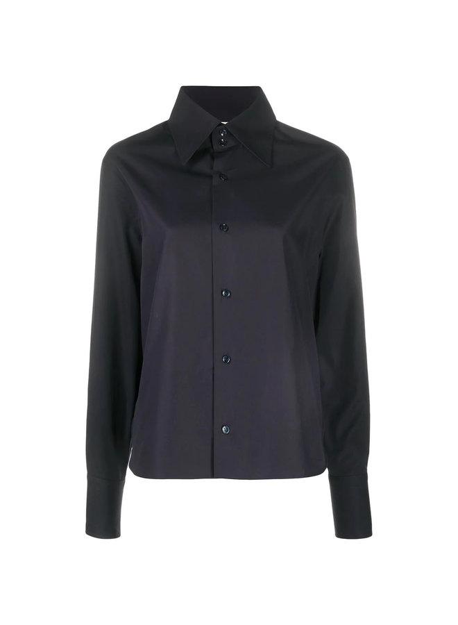 Long Sleeve Shirt in Organic Popeline