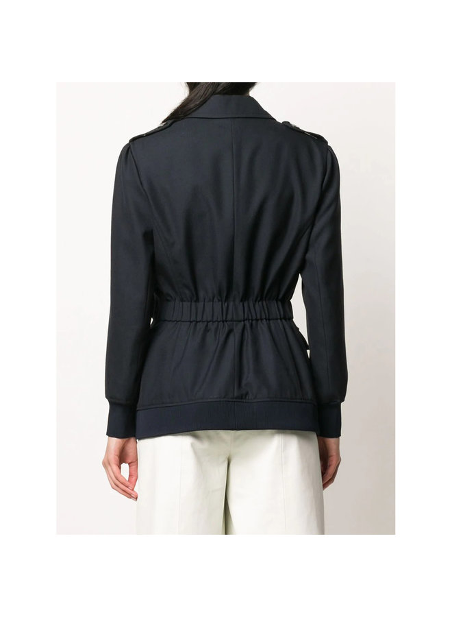 Outwear Jacket in Tailoring Wool in Abyss Blue