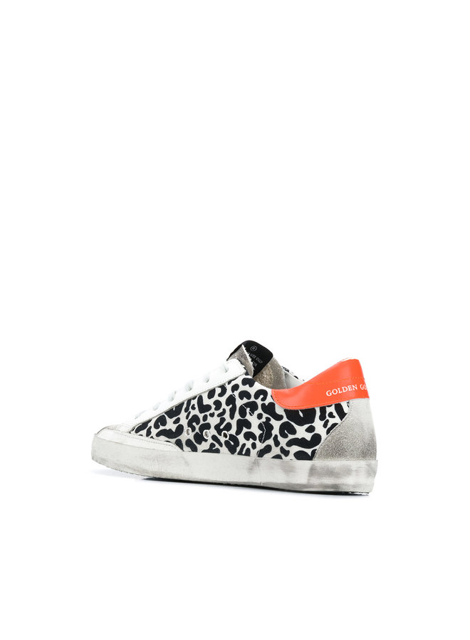 Superstar Sneakers in Leopard with Neon Yellow Star