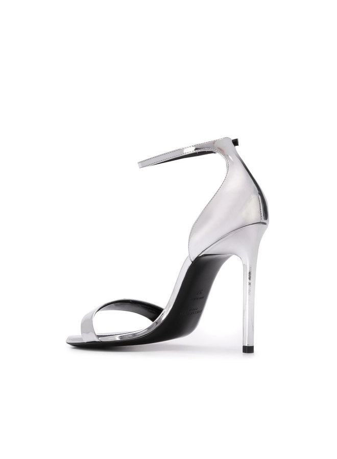 Amber High Heel Sandals in Argento