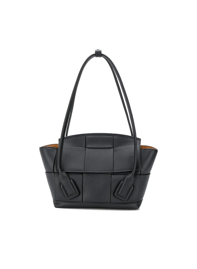 Small Arco Bag, in Maxi Intrecciato Leather