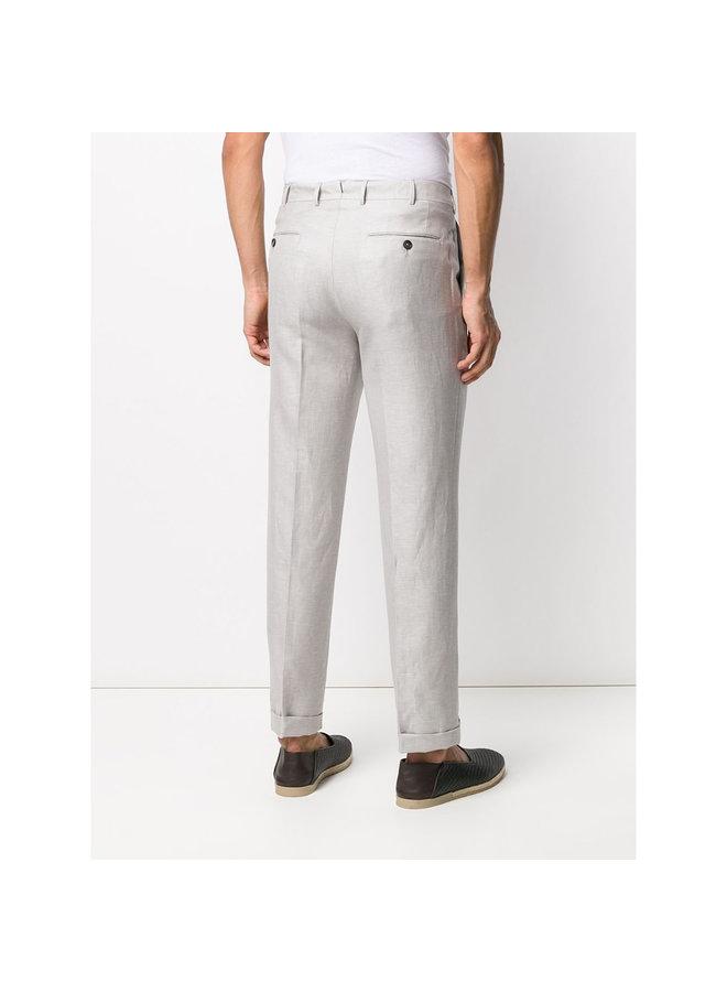 Classic Pant in Wool/Linen in Light Greige