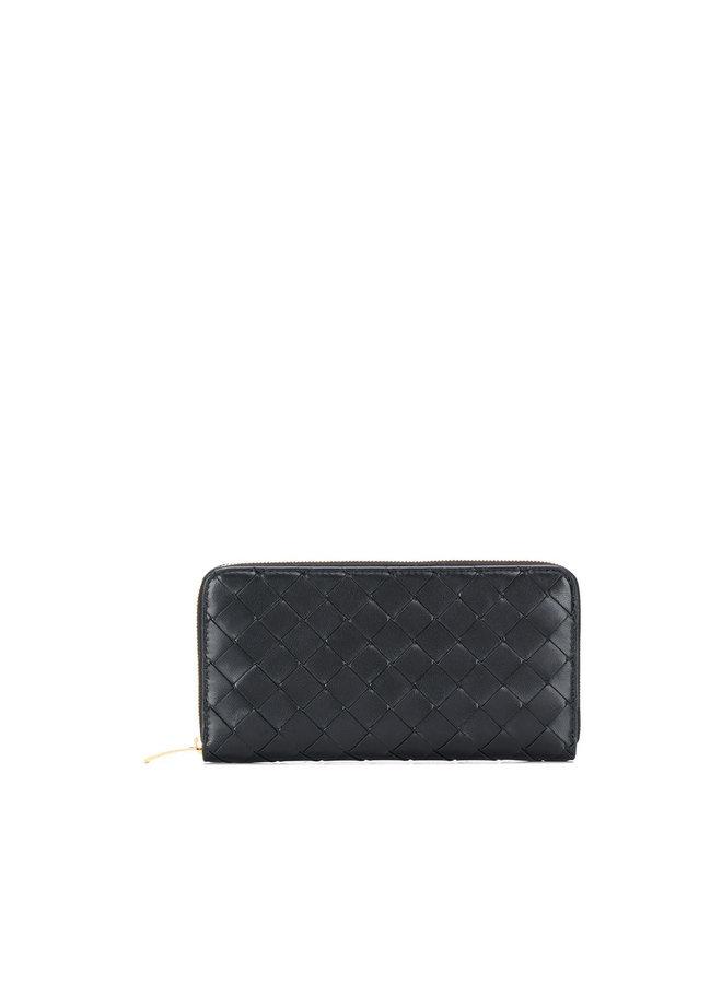 Zip Around Wallet in Intrecciato