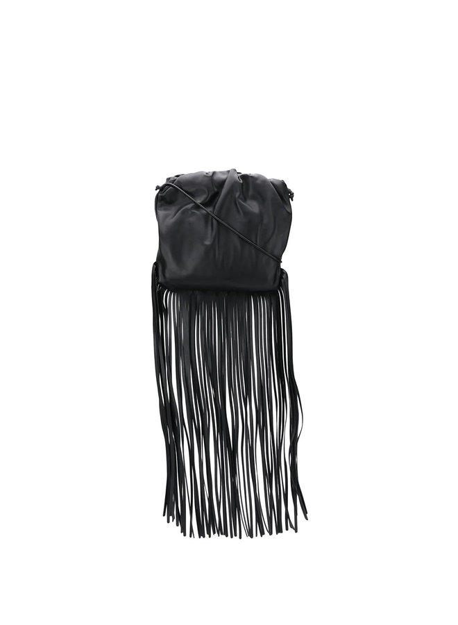The Fringed Pouch Shoulder Bag in Leather