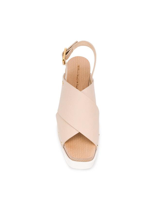 Wedge Platform Sandals in Blush