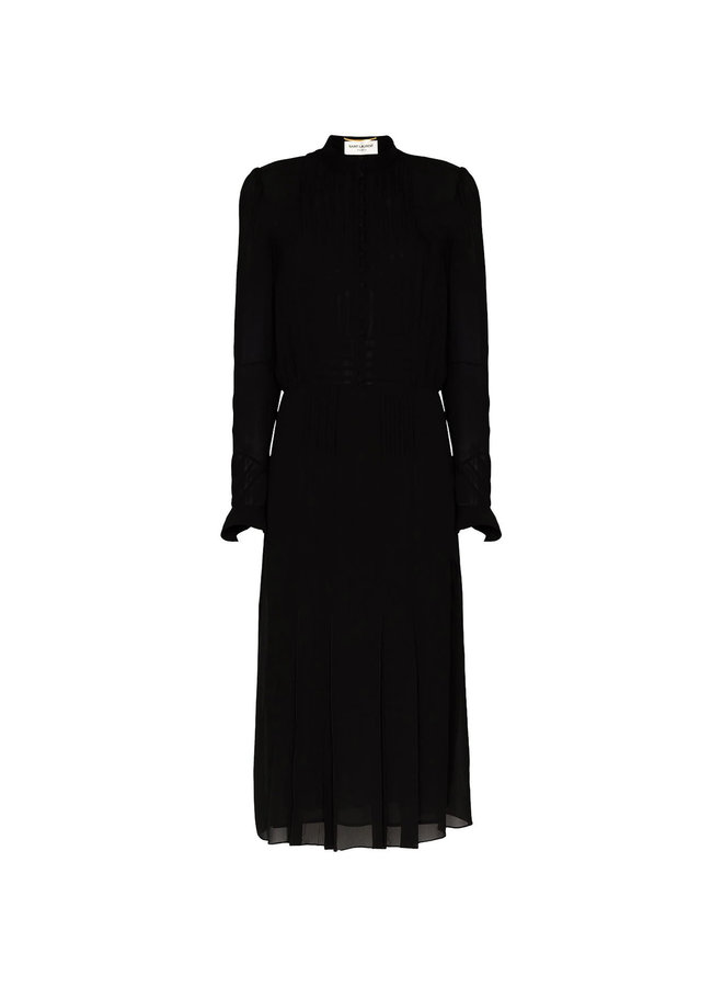 Midi Shirt Dress in Silk