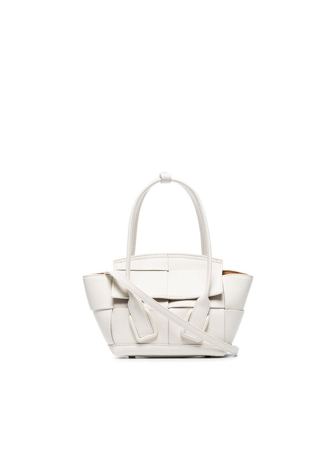 Mini Arco Bag in Leather in White