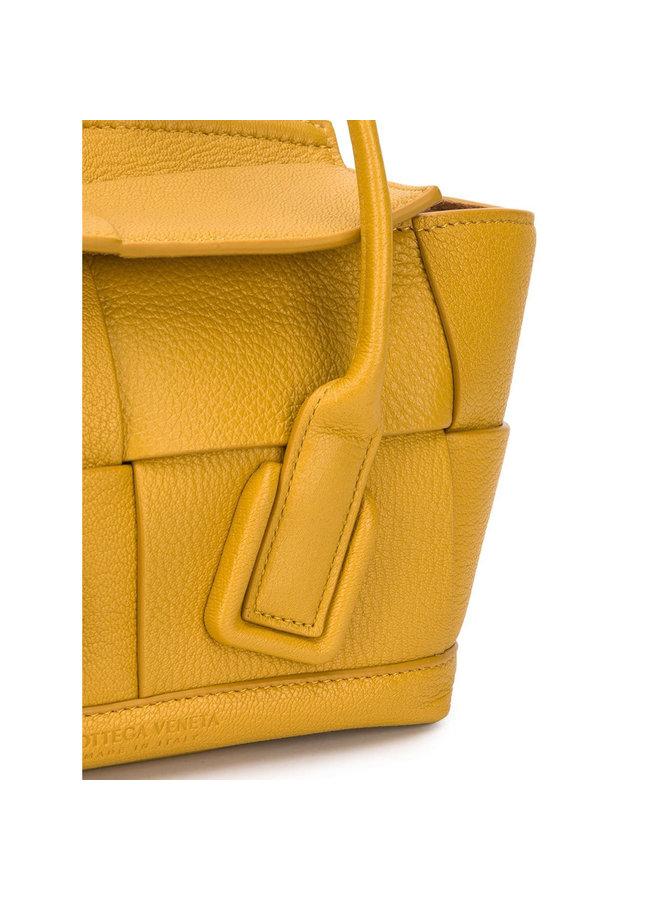 Mini Arco Bag in Leather in Yellow