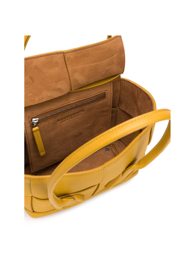 Mini Arco Bag in Leather in Yellow