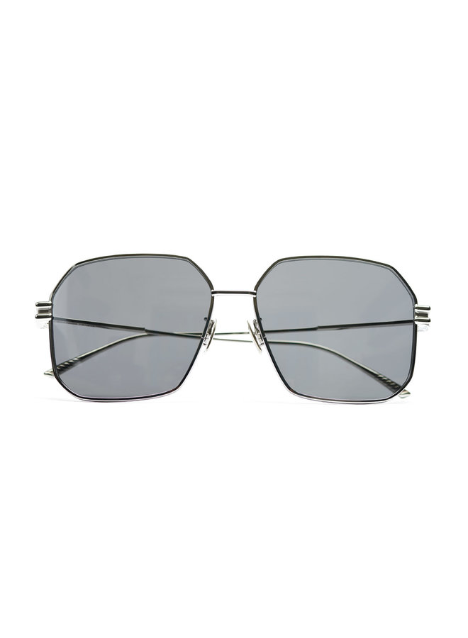 Geometric Frame Sunglasses in Metallic