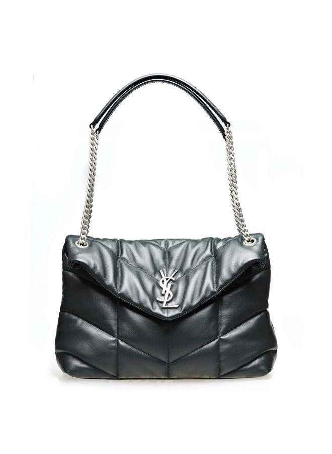Loulou Medium Puffer Shoulder Bag in Leather