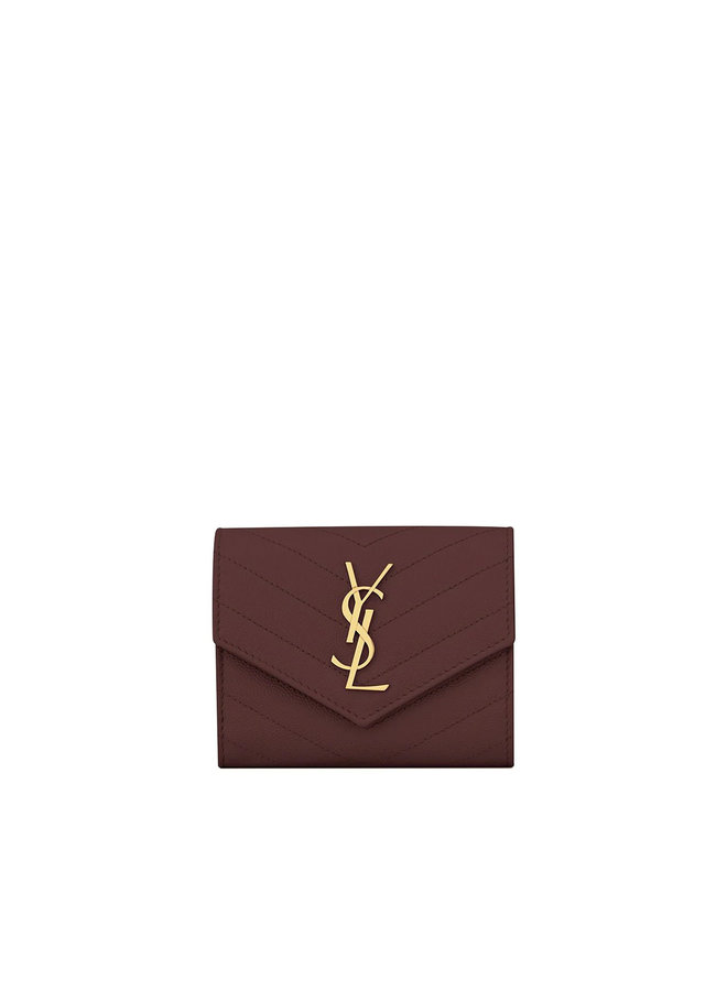 Logo Trifold Wallet in Leather