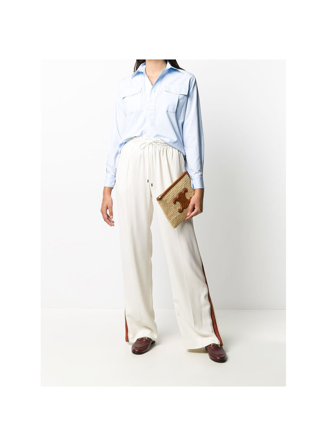 Casual Straight Leg Pants in White