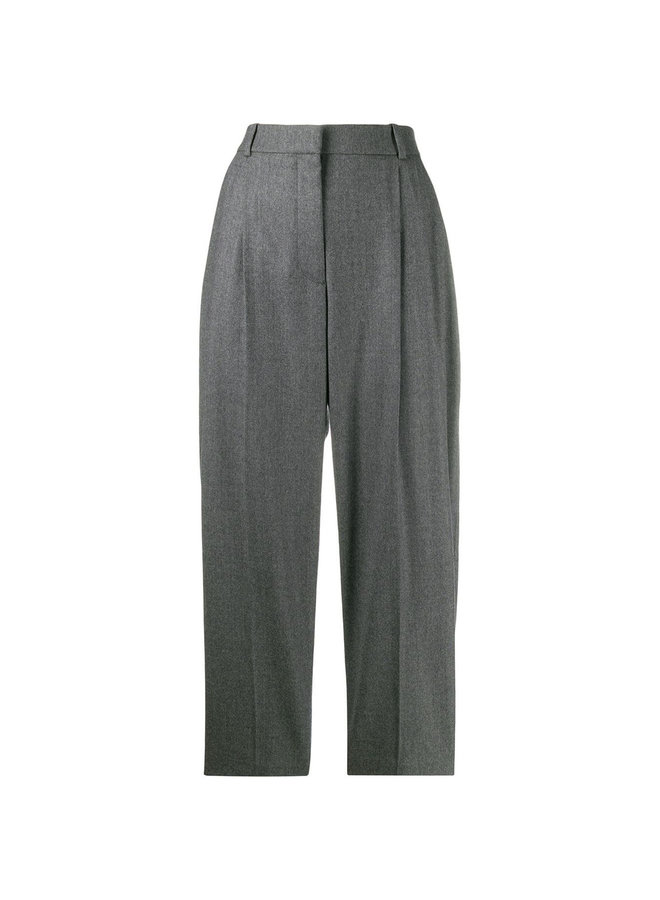 High Waisted Tailored Pants in Wool