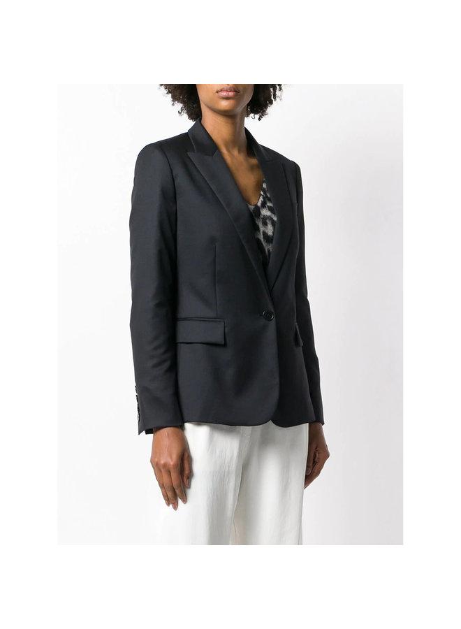 Tailored Blazer Jacket in Wool in Black