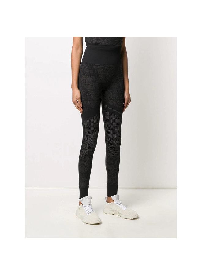 Ultra High Waist Leggings in Leopard Print in Black