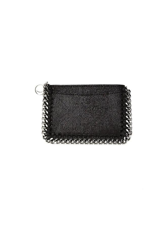 Falabella Card Case in Black