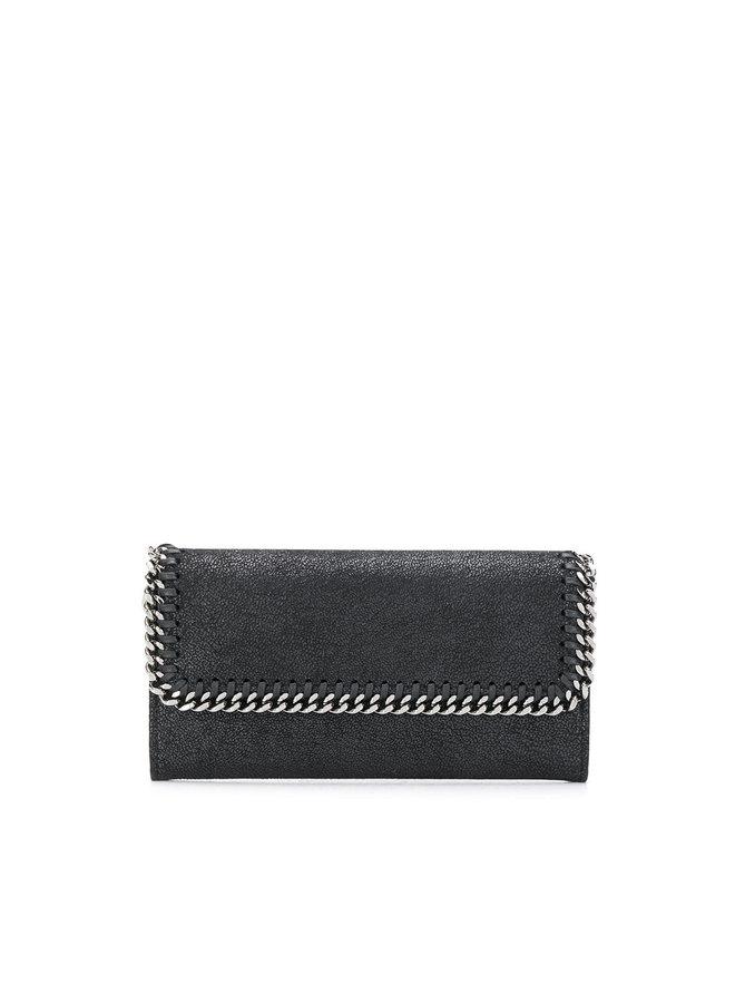 Falabella Continental Flap Wallet in Black