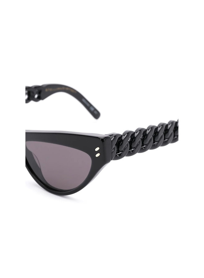 Cat Eye Frame Sunglasses in Acetate in Black