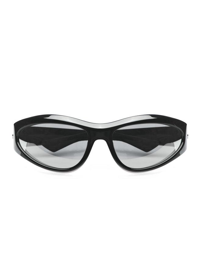Cat Eye Sunglasses ,Blk/Blk/Silver