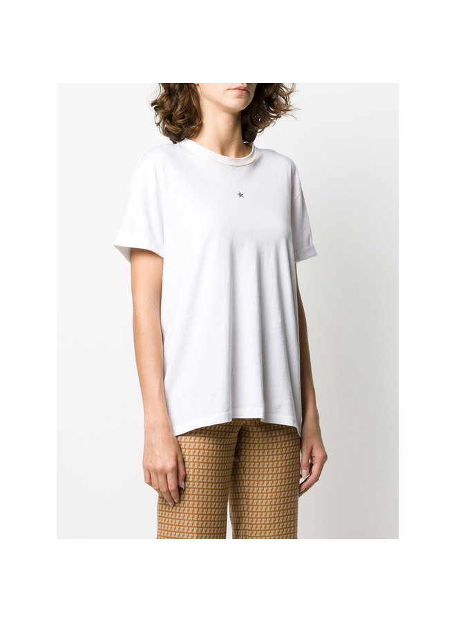 Star T-Shirt in Cotton in Pure White