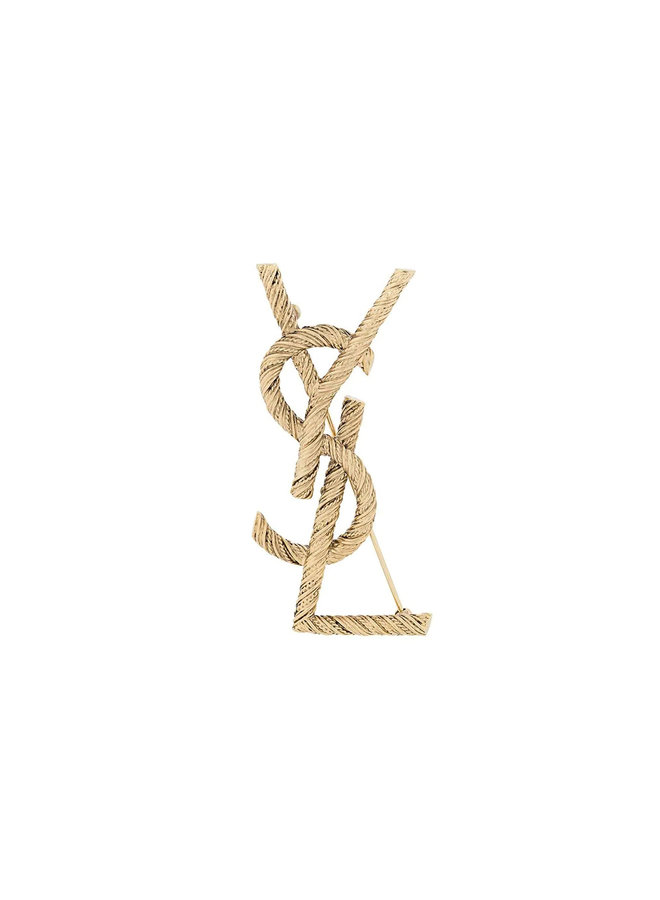 YSL Broach in Brass