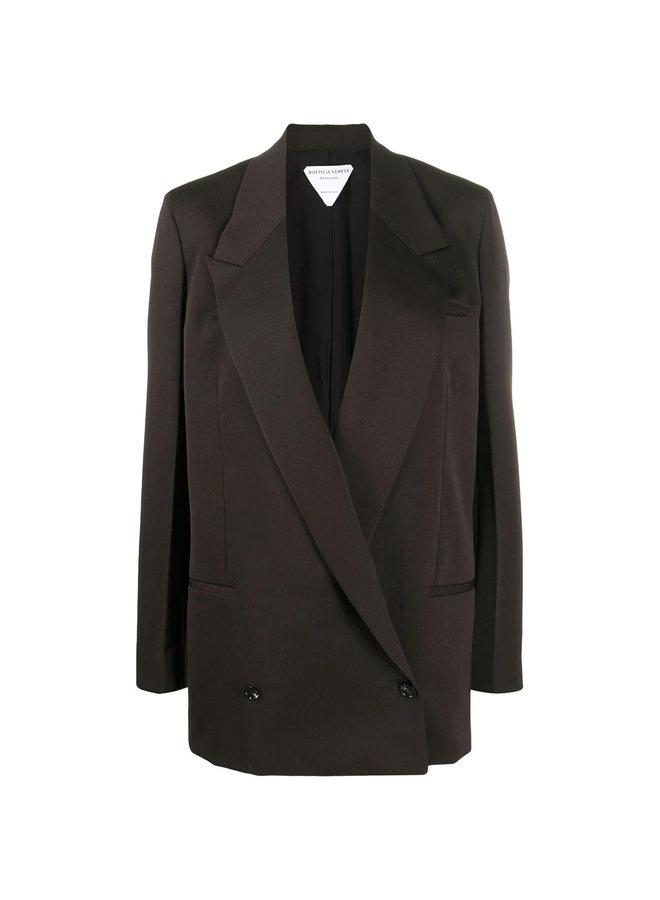 Oversized Wrap Blazer Jacket in Wool