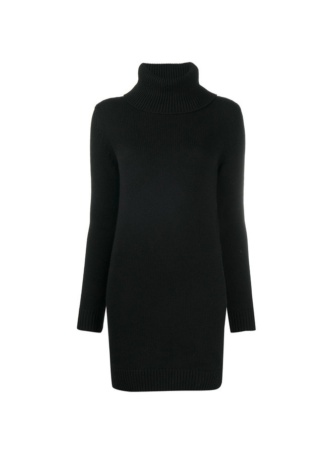 Turtleneck Knitted Jumper Dress in Cashmere