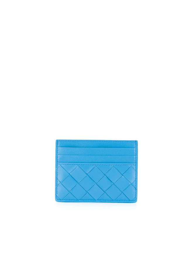 Card Holder in Intrecciato Leather