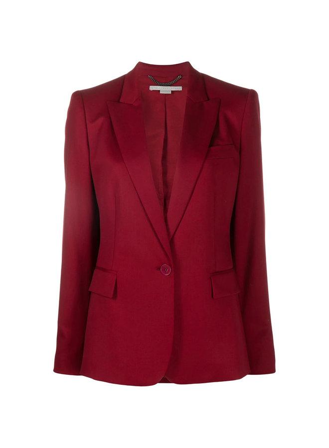 Single Breasted Blazer Jacket in Wool