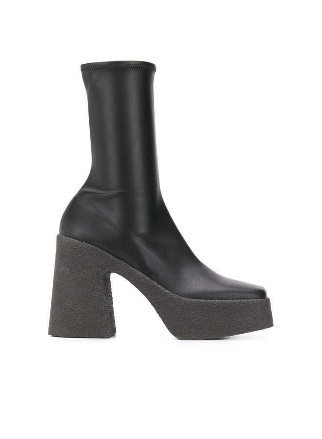 Platform Ankle Boots in Faux Leather