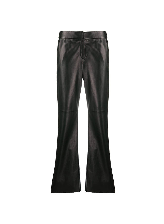 Straight Leg Pants in Leather