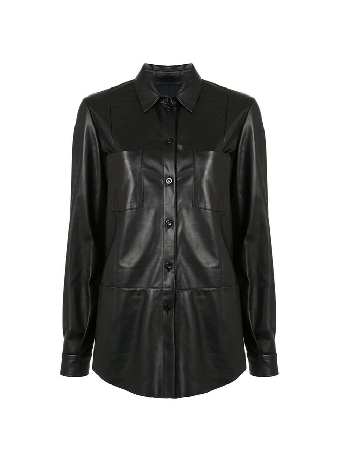 Long Sleeve Shirt in Leather