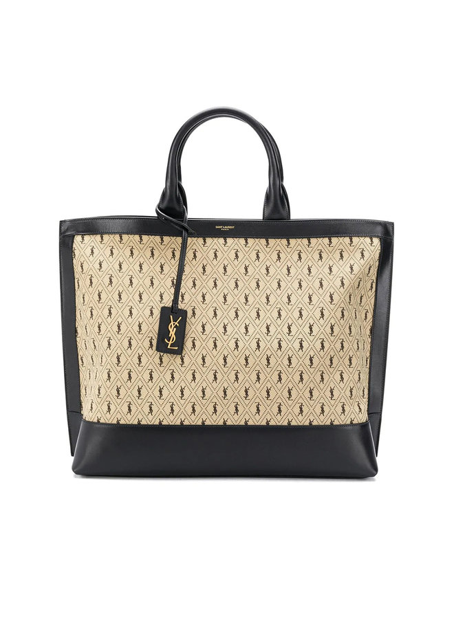 Monogram All-over Tote Bag in Leather