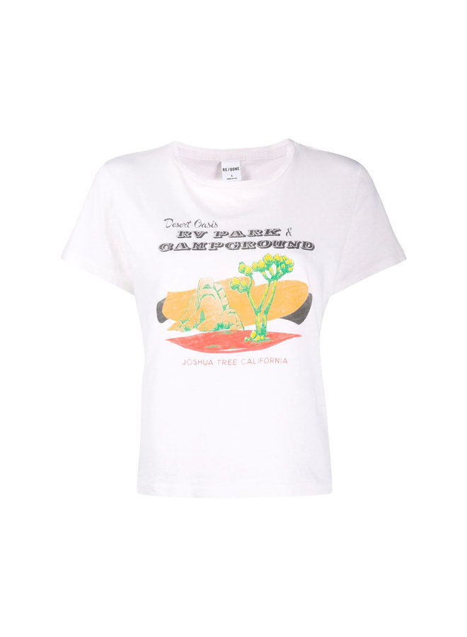 Desert Oasis Graphic Print T-shirt in Cotton