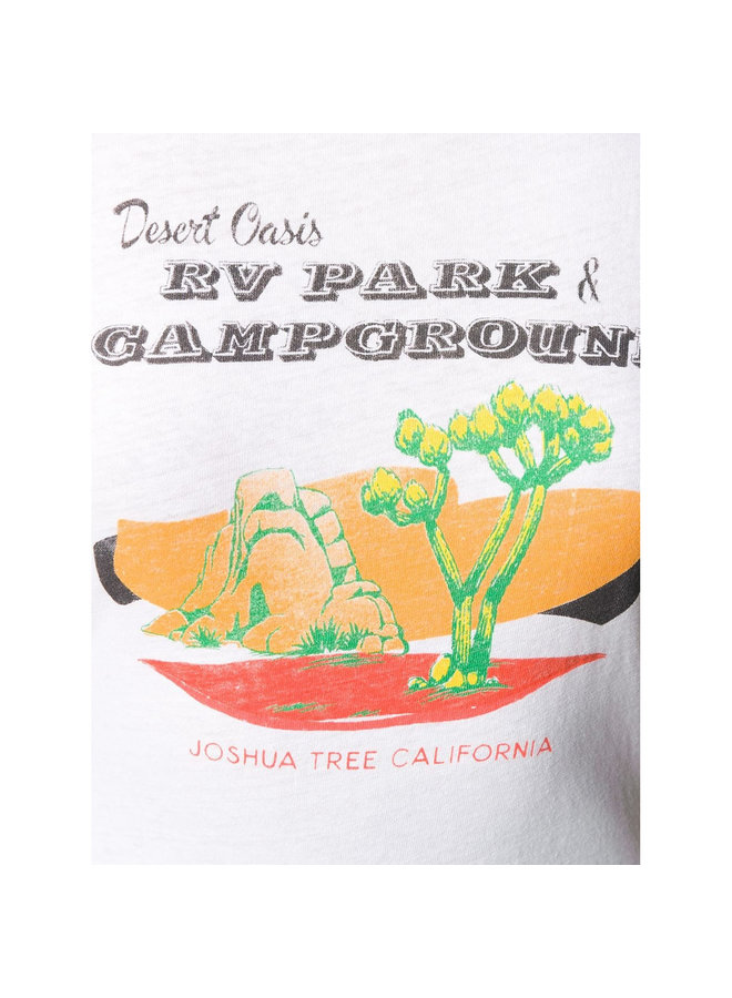 Desert Oasis Graphic Print T-shirt in Cotton in White