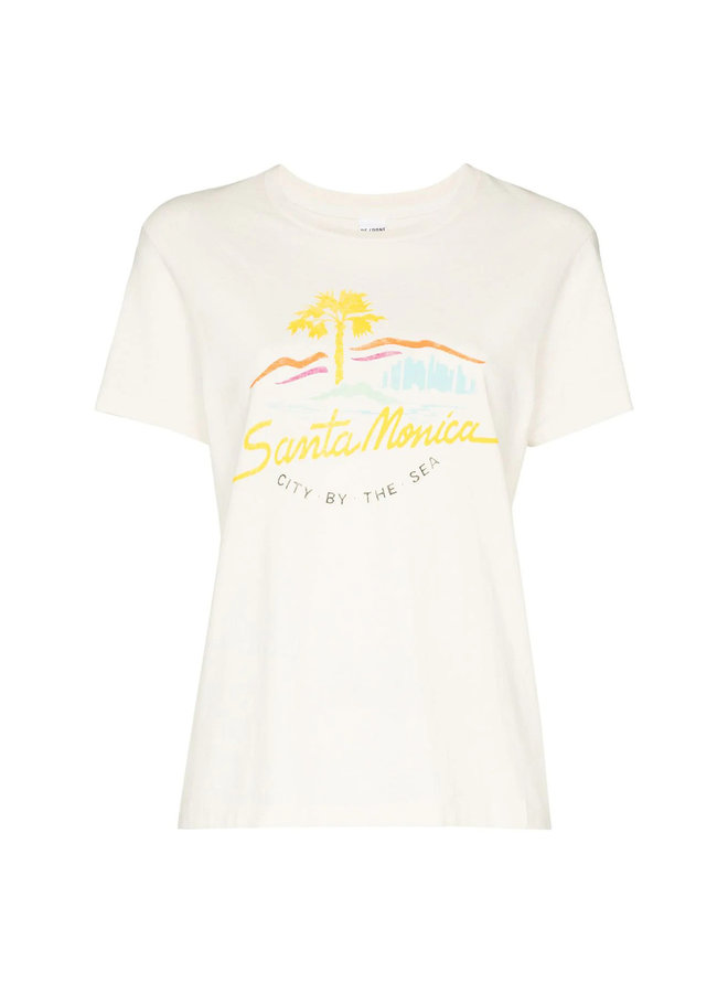 City By The Sea Graphic Print T-shirt in Cotton in White
