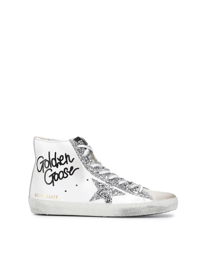 Francy High Top Sneakers in Leather in White