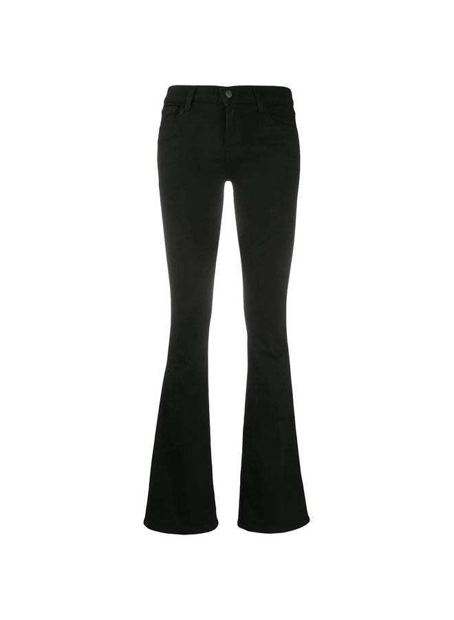 Sallie Mid Rise Bootcut Jeans in Black