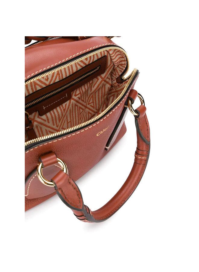 Daria Small Crossbody Bag in Leather in Brown